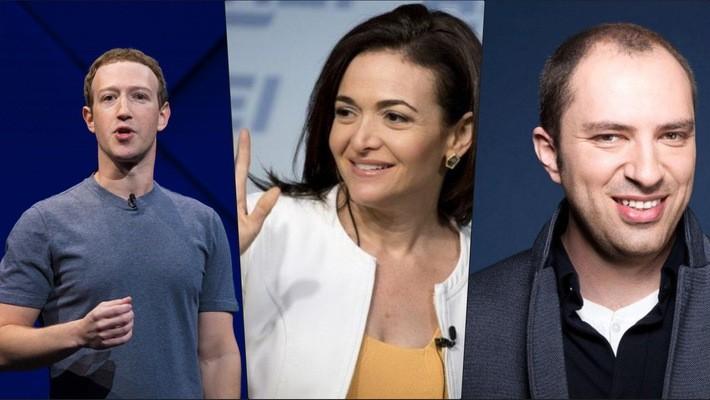 Mark Zuckerberg, Sheryl Sandberg và Jan Koum là 3 lãnh đạo cấp cao của Facebook bán nhiều cổ phiếu nhất năm 2017.