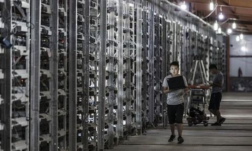 Trung Quốc có nhiều người đào Bitcoin nhất thế giới. Ảnh:Bloomberg