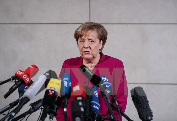 Thủ tướng Đức Angela Merkel. (Nguồn: THX/TTXVN)
