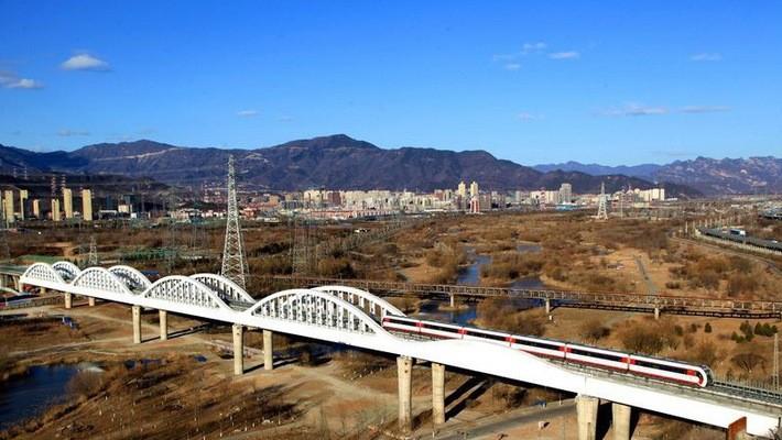 Bầu trời trong xanh hơn ở Bắc Kinh hôm 4/12/2017 - Ảnh: Getty/Bloomberg.