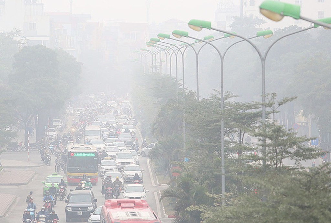 Hà Nội chìm trong sương mù - ảnh 4
