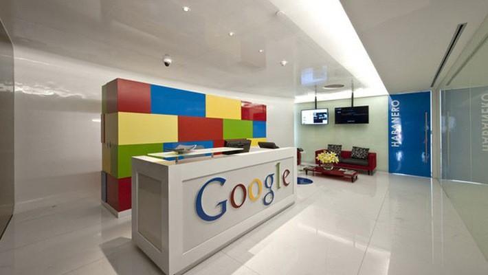 Bên trong một văn phòng làm việc của Google.