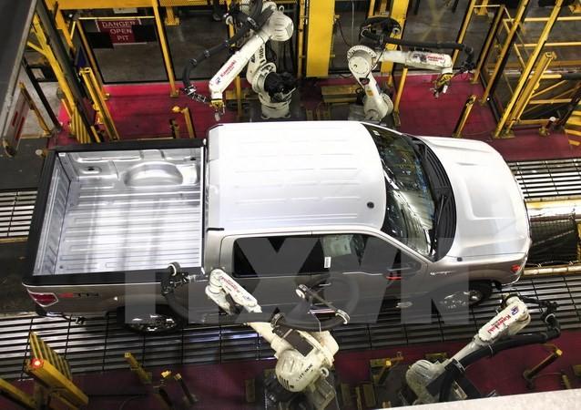 Dây chuyền sản xuất ôtô của hãng Ford ở Dearborn, Michigan, Mỹ ngày 15/9/2013. (Nguồn: AFP/TTXVN)