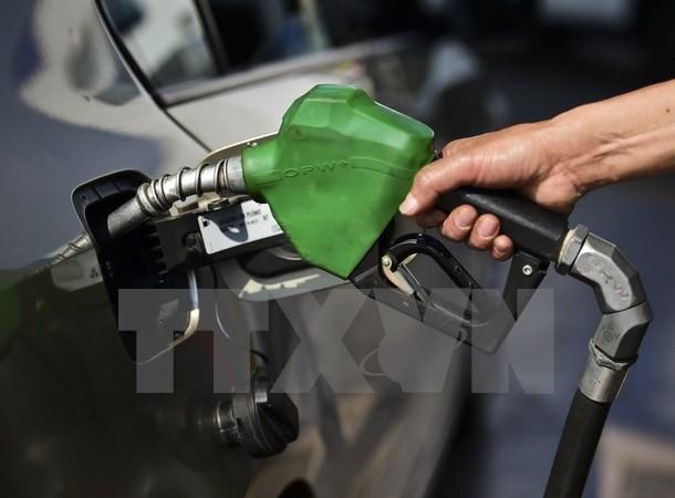 Bơm xăng cho các phương tiện tại trạm xăng ở San Luis Potosi, Mexico. (Ảnh: AFP/TTXVN)