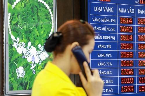 Giá vàng được các doanh nghiệp điều chỉnh tăng. Ảnh:Thành Nguyễn.