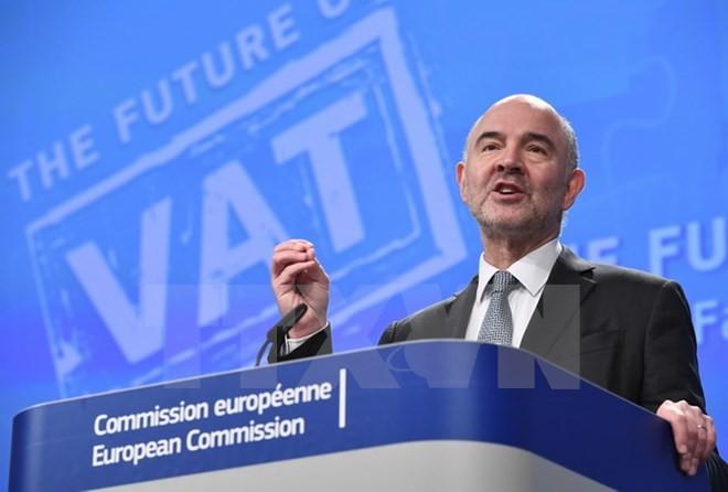 Ủy viên phụ trách tài chính của EU Pierre Moscovici. (Ảnh: AFP/TTXVN)