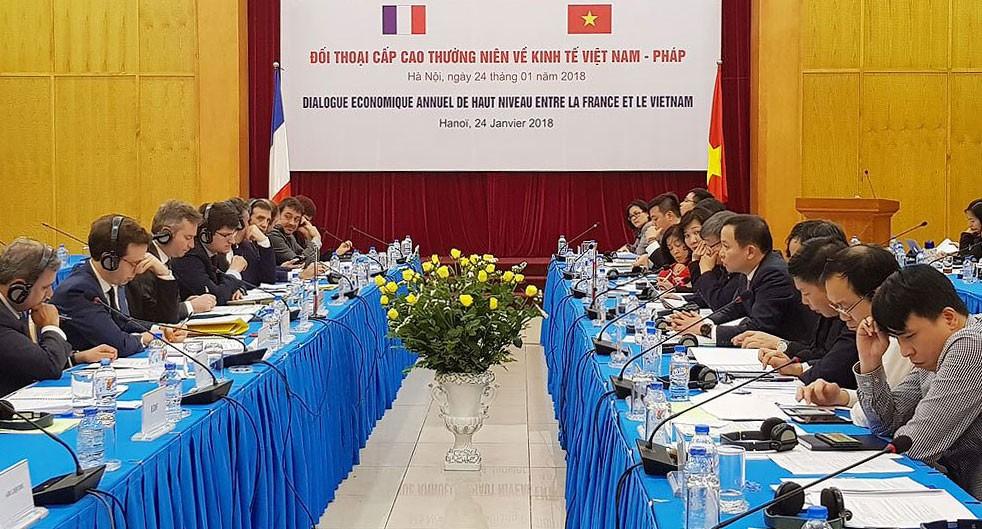 Năm 2018 đánh dấu 5 năm thiết lập quan hệ đối tác chiến lược Việt – Pháp. Ảnh: Việt Thắng