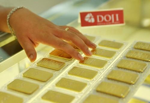 Giá mua vào của vàng miếng SJC hiện cao hơn thế giới. Ảnh: PV.