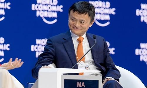 Jack Ma trongphiên thảo luận tại Davos năm nay. Ảnh:Alizila