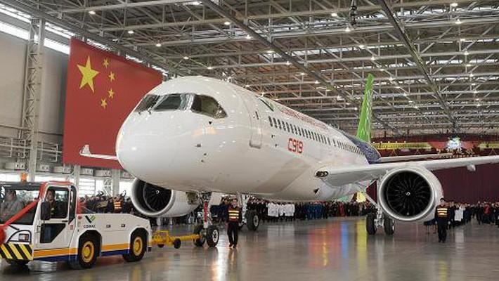 Với 168 ghế, C919 là biểu tượng cho tham vọng của Trung Quốc trong lĩnh vực hàng không - Ảnh: China Daily/Reuters.