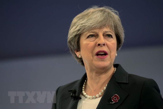Thủ tướng Anh Theresa May. (Nguồn: AFP/TTXVN)