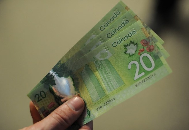 Đồng tiền mệnh giá 20 đôla Canada. (Nguồn: AFP/TTXVN)