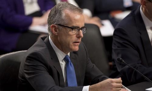 Cựu phó giám đốc FBI Andrew McCabe. Ảnh:AFP.