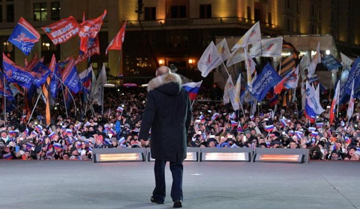 Người Nga ăn mừng ông Putin tái đắc cử Tổng thống - ảnh 3