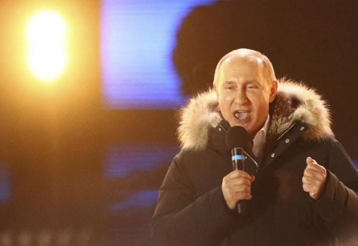 Người Nga ăn mừng ông Putin tái đắc cử Tổng thống - ảnh 5