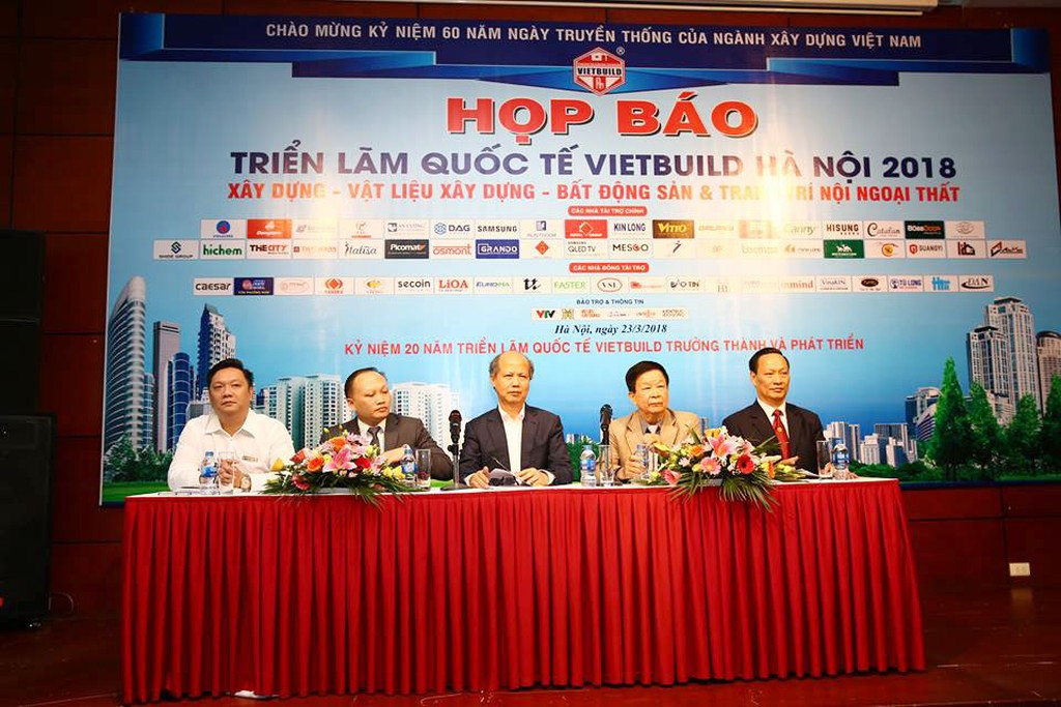 Gần 500 doanh nghiệp tham dự Vietbuild Hà Nội 2018