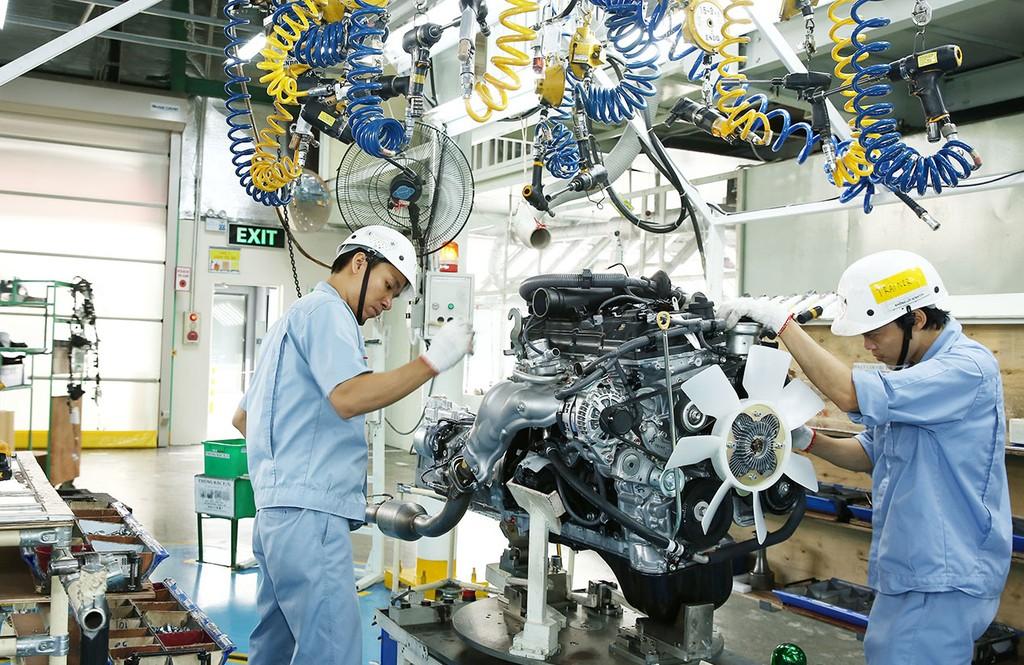 Lĩnh vực công nghiệp chế biến, chế tạo thu hút 3,44 tỷ USD vốn FDI trong quý I. Ảnh: Lê Tiên