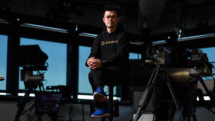 Ông Zhao Changpeng, CEO sàn tiền ảo Binance - Ảnh: Bloomberg.