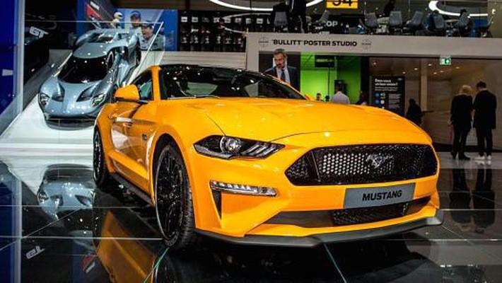 Một chiếc Ford Mustang tại triển lãm ôtô quốc tế Geneva hôm 7/3/2018 - Ảnh: Getty/CNBC.