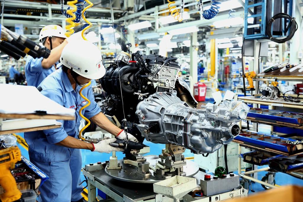 Ngành công nghiệp tăng trưởng 10,08% so với cùng kỳ năm trước, đóng góp 3,01 điểm phần trăm vào mức tăng chung. Ảnh: Lê Tiên