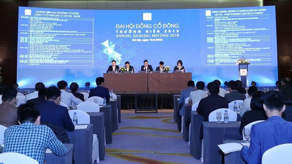 """Đại hội đồng cổ đông thường niên năm 2018 của Văn Phú - Invest thông qua mục tiêu doanh thu và lợi nhuận """"khủng"""""""