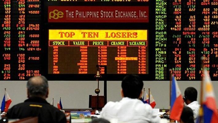 Chứng khoán Philippines đang trong một đợt giảm điểm mạnh - Ảnh: Inquirer.