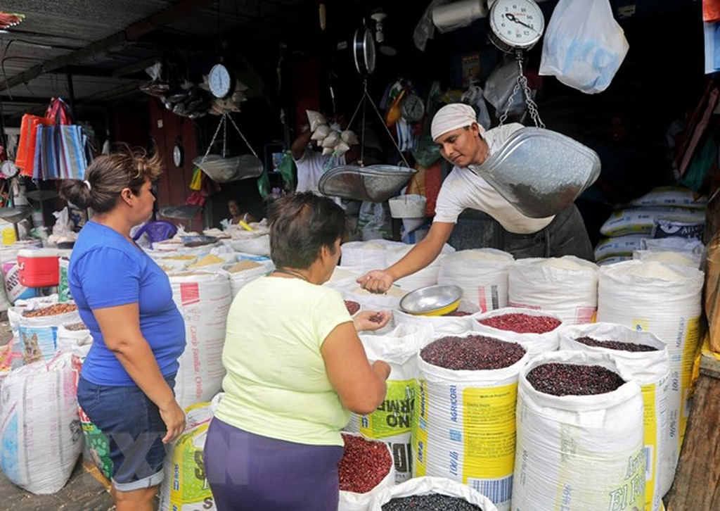 Người dân mua bán hàng hóa tại Managua, Nicaragua. (Nguồn: AFP/TTXVN)