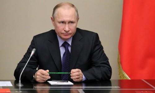 Tổng thống Nga Putin trong cuộc họp an ninh ở ngoại ôMoscow ngày 19/4. Ảnh:AFP.