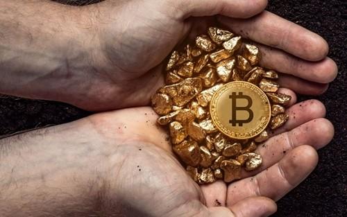 Bitcoin và vàng đang được coi là đối thủ của nhau. Ảnh:Bitfinex