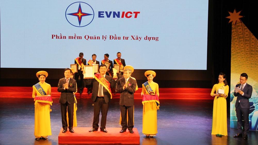 Đây là lần thứ năm các sản phẩm phần mềm của EVNICT đạt danh hiệu Sao Khuê