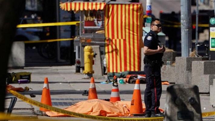 Hiện trường vụ tấn công bằng xe tải ở Toronto, Canada, ngày 23/4 - Ảnh: Reuters.