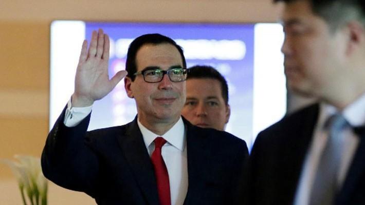 Bộ trưởng Bộ Tài chính Mỹ Steven Mnuchin tại Bắc Kinh hôm 3/5 - Ảnh: Reuters