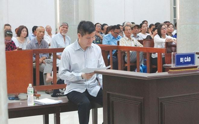 Bị cáo Phạm Thanh Hải tại phiên tòa. Ảnh: CN