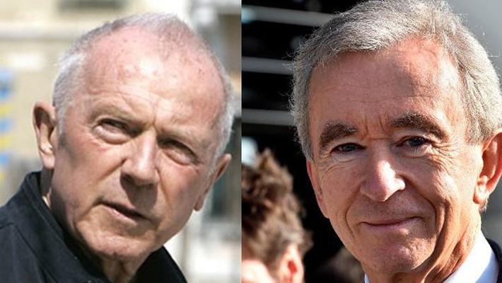 Bernard Arnault và Francois Pinault – 2 tỷ phú giàu nhất tại Pháp.