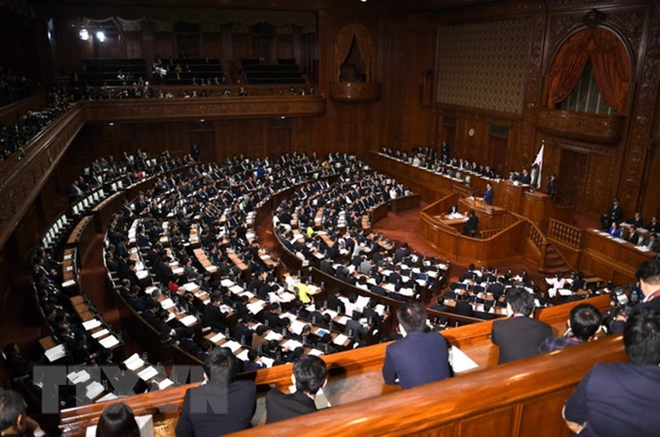Toàn cảnh một phiên họp Hạ viện Nhật Bản ở Tokyo. (Nguồn: AFP/TTXVN)