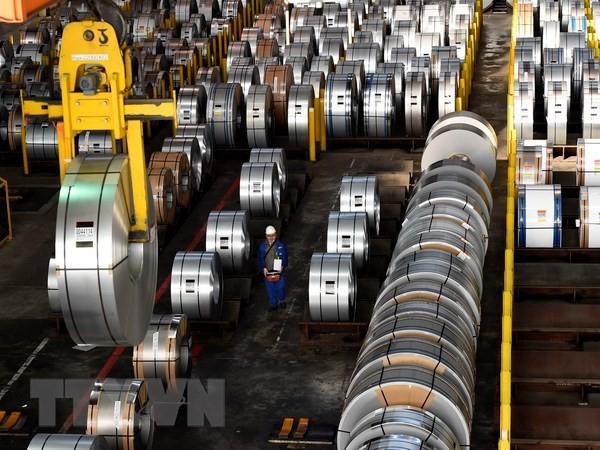 Thép được sản xuất tại nhà máy ở Salzgitter, Đức. (Nguồn: AFP/TTXVN)