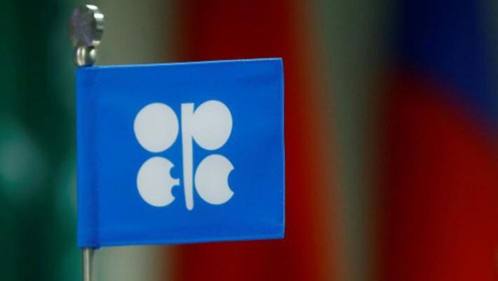 Một lá cờ nhỏ có logo của OPEC tại cuộc họp của khối này ở Vienna, Áo, tháng 9/2017 - Ảnh: Reuters.