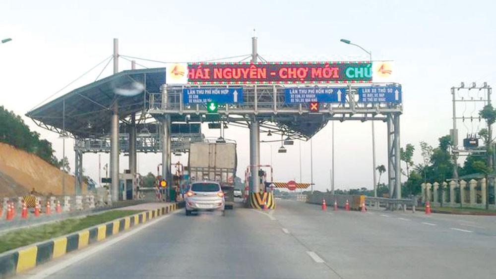 Nhà đầu tư chỉ được thu giá dịch vụ sử dụng đường bộ tại Trạm Km72+930 thay vì 2 trạm theo phương án hoàn vốn Dự án