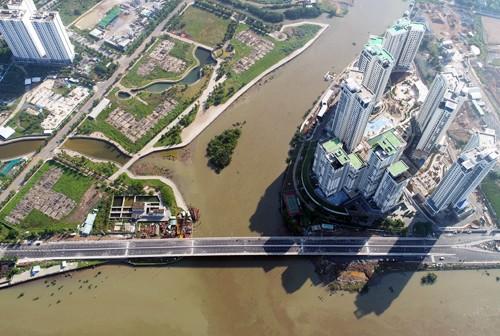 TP HCM khánh thành cầu qua đảo Kim Cương - ảnh 1
