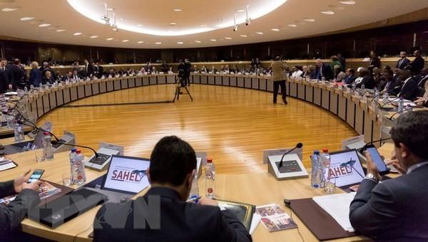 Lãnh đạo các nước thành viên EU tại Hội nghị Ủy ban châu Âu ở Brussels (Bỉ). (Nguồn: THX/TTXVN)