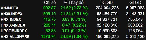 Tiền đổ vào nhóm cổ phiếu lớn, VN-Index tăng 22 điểm - ảnh 1