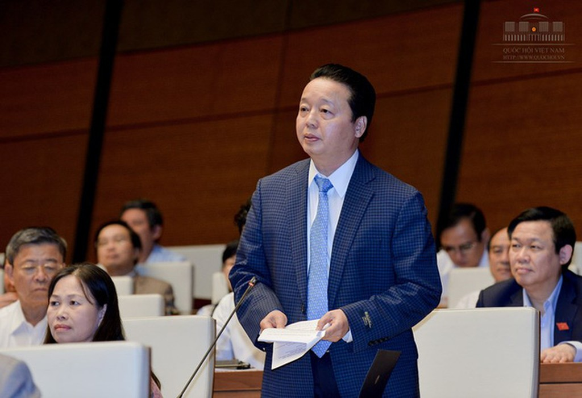 Bộ trưởng Trần Hồng Hà trả lời chất vấn - ảnh 1