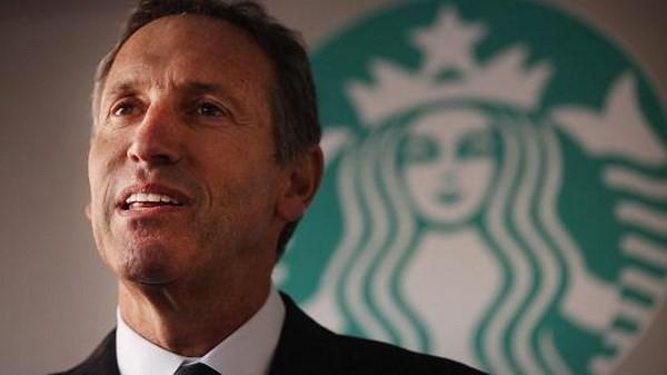 Chủ tịch kiêm Tổng giám đốc thương hiệu chuỗi quán càphê Starbucks của Mỹ Howard Schultz. (Nguồn: Getty Images)