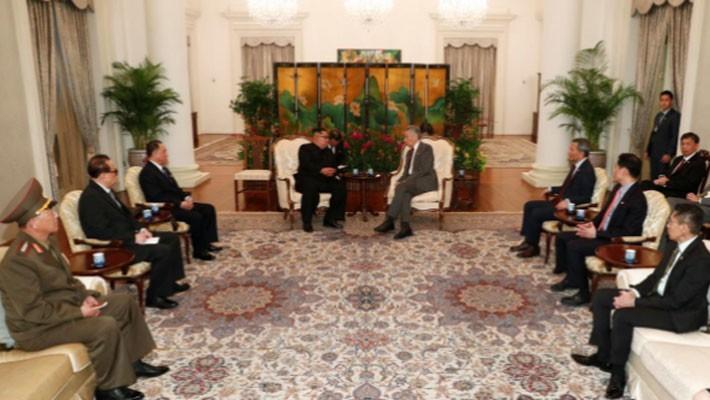 Những hình ảnh đầu tiên của ông Trump và ông Kim Jong Un ở Singapore - ảnh 6