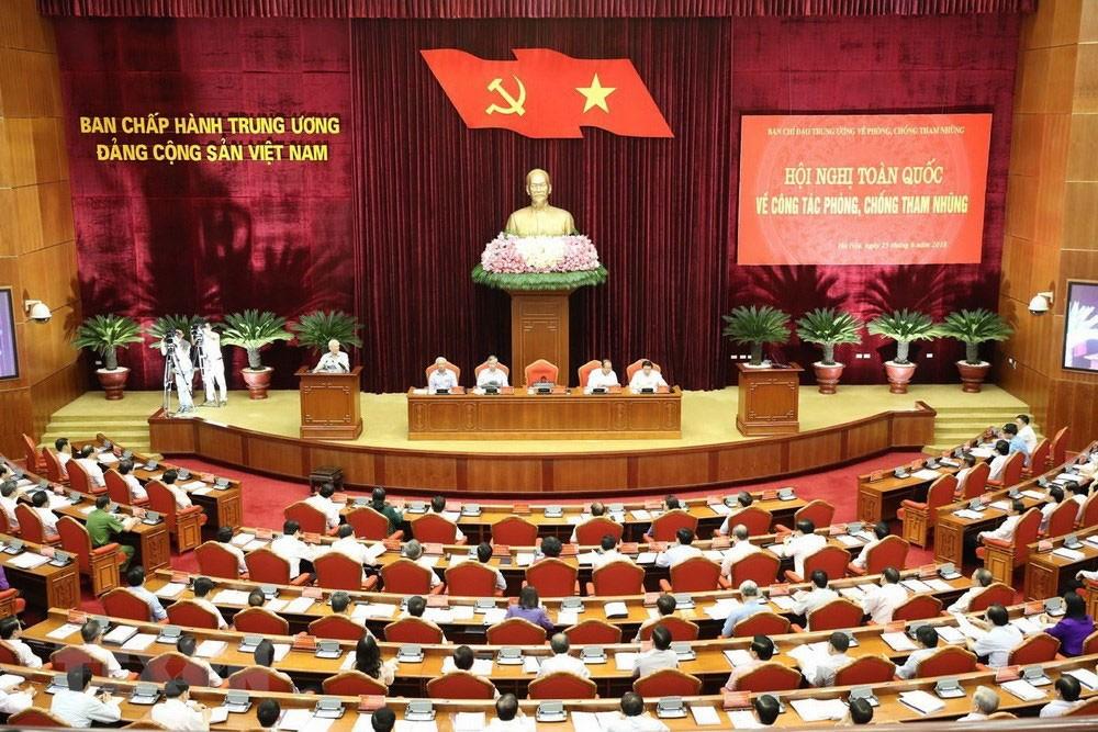 Hội nghị toàn quốc về công tác phòng, chống tham nhũng diễn ra sáng 25/6 tại Hà Nội. Ảnh: Trí Dũng