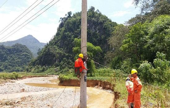Công ty Điện lực Hà Giang triển khai xử lý sự cố do ảnh hưởng mưa lũ