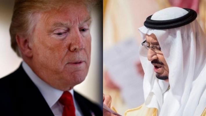 Tổng thống Mỹ Donald Trump (trái) và nhà vua Salman của Saudi Arabia - Ảnh: Reuters.