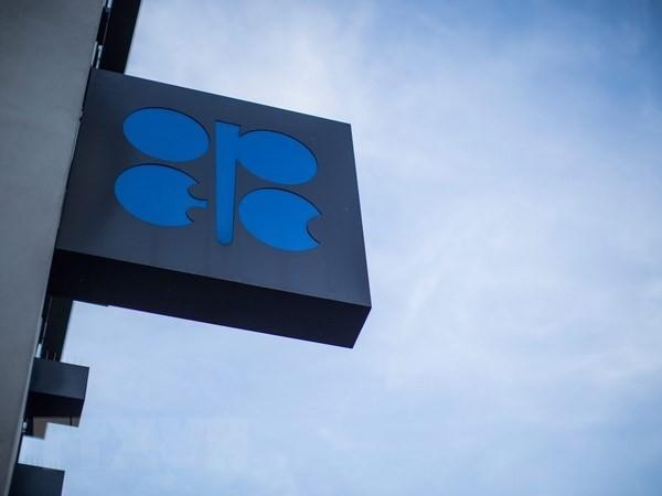 Logo của OPEC bên ngoài trụ sở tổ chức ở Vienna, Áo. (Nguồn: EFE-EPA/TTXVN)