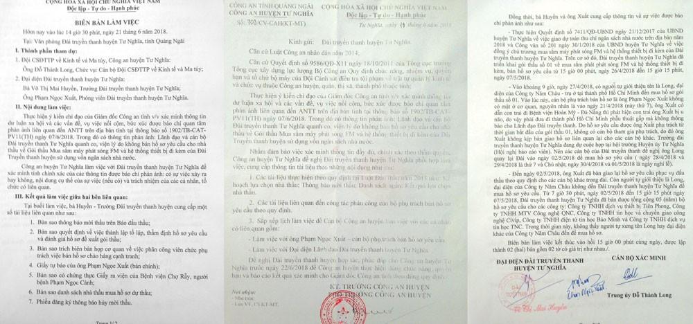Công an huyện Tư Nghĩa (Quảng Ngãi) đã vào cuộc xác minh các phản ánh liên quan đến Gói thầu Mua sắm máy phát sóng FM và hệ thống thiết bị đi kèm của Đài Truyền thanh huyện Tư Nghĩa
