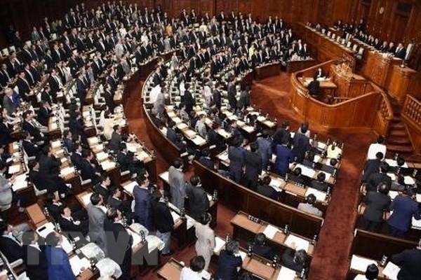 Toàn cảnh một phiên họp Quốc hội Nhật Bản ở Tokyo. (Ảnh: Kyodo/TTXVN)